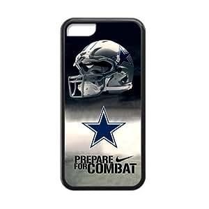 RAROFU High Quality Dallas Cowboys Custom Cases for iPhone 5C (Laser Technology)