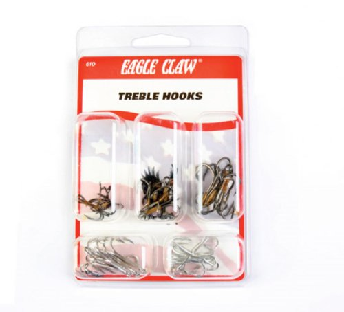 Eagle Claw Treble Assortment Hook, 25 Piece