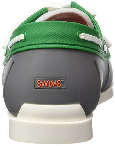 SWIMS Men's Boat Loafers, Ultralight and Durable, Stylish and Classic Look in Color Combos Gray/Green