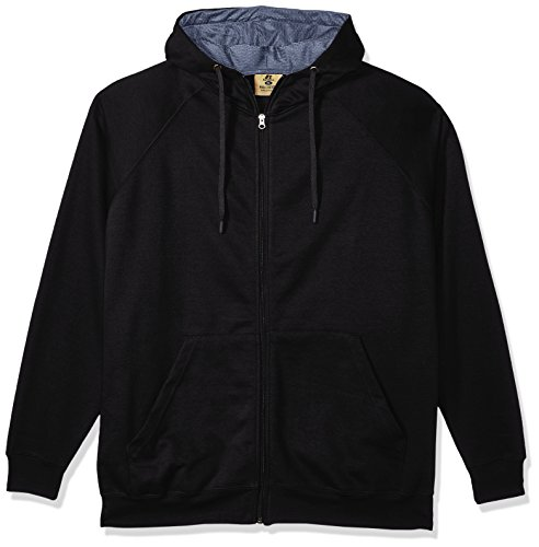 Russell Athletic Men's Big and Tall Fz/Flce Hood W/Mesh Lining Contrast Drawsrtringlc r, Black, 5X (Fz Hood)