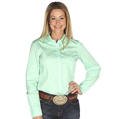 a9773ca2f4e Cinch Apparel Womens Mint Button up Shirt XXL Green