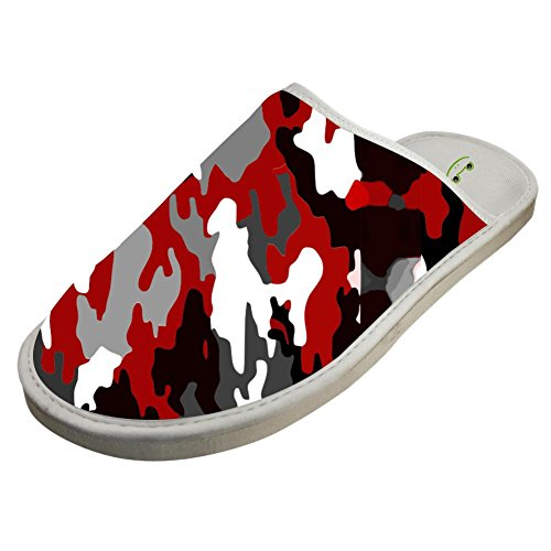 Camouflage Sandals White Shoes Sleeppers Winter Family Indoor with Red Flat Slippers Custom q6X17BBE