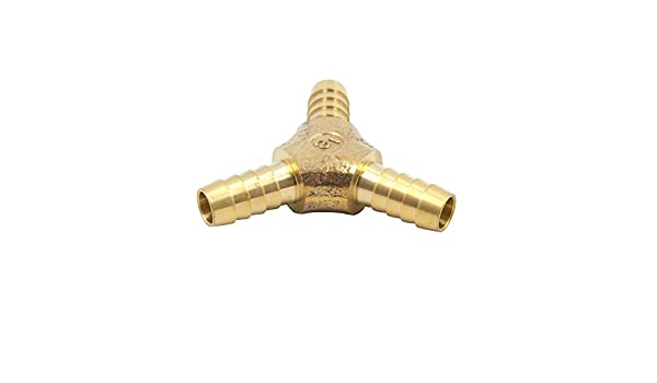 5//16 Barb x 5//16 Barb x 5//16 Barb VIS Brass Hose Barb Y-shaped Tee 124-5 Wye T-fitting 1 Pc