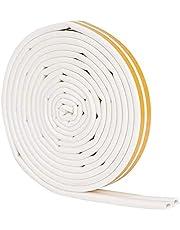HERCHR 10ft 9 x 6mm Deur Weer Strippen, Zelfklevende Rubber Seal Strip voor Isolatie Weerbestendig Geluiddicht (Wit)