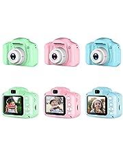 Kindercamera - digitale camera kinderen met 3,5 inch groot scherm 1080p HD 12MP ingebouwde 32GB SD-kaart USB oplaadbare selfiecamera voor kinderen van 3 tot 10 jaar leeftijd meisjes verjaardag kinderen speelgoed