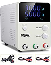 Power Supply Adjustable Regulated Power Supply Digital with Alligator Leads US Power Cord KCP305S