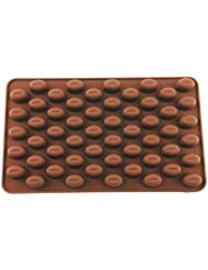 yueton 55 Cavity Silicone Coffee Beans Mold Chocolate Candy Ice Cube Tray Cake Decoration Bakeware Mould Maker