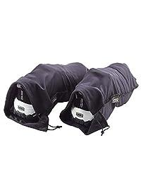 Lewis N Clark 169-Black/Purple-One Size Travel Shoe Covers