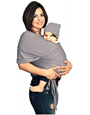 YogaBellies® Baby Sling Wrap UK Made Safety Certified | Super Soft 100% Organic Cotton Baby Wrap | Baby Carrier Newborn and Infants | Free Hat, Bag and EBook | Lifetime Guarantee | Ideal Gift
