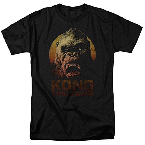 Kong Skull Island Movie Officially Licensed Men's Adult T-Shirt Black (X-Large)