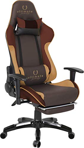 Ultimate Gaming Orion Silla Gaming, Cuero sintetico, Marron, Grande