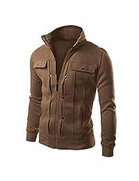 Winhurn Mens Slim Designed Lapel Cardigan Coat Jacket TOP Fashion