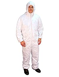 Buffalo Industries (68507) Hooded Polypro Disposable Coverall-Size XXXL