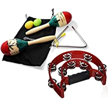 Maracas and Tambourine Musical Instruments for Toddlers, Children Percussion Set