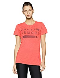 Under Armour Women's Threadborne Train Graphic Twist Short Sleeve Crew Top