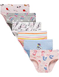 Little Girls' Soft Cotton Underwear Bring Cool, Breathable Comfort Experience Panty(Pack of 6)