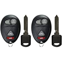 KeylessOption Keyless Entry Remote Car Key Fob and Ignition Key Replacement For L2C0007T (Pack of 2)
