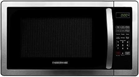 Farberware Classic FMO11AHTBKB 1.1 Cubic Foot 1000-Watt Microwave Oven, Stainless Steel