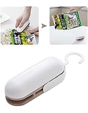Mini Bag Sealer Heat Seal, 2 in 1 Quick Heat Sealer and Cutter Handheld Portable Bag Resealer Sealer for Plastic Bags Food Storage Snack Fresh Bag Sealer