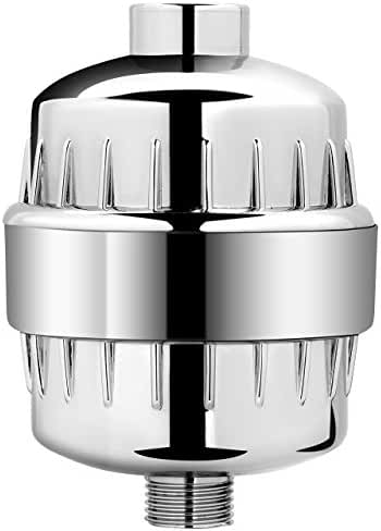 AquaBliss High Output Universal Shower Filter with Replaceable Multi-Stage Filter Cartridge - Chrome