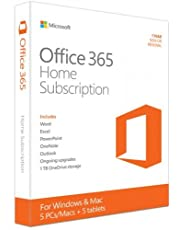 Microsoft Office 365 Home | 5 Users | 1 Year Subscription | PC/Mac