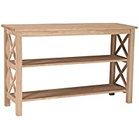 International Concepts OT-70S Hampton Console or Sofa Table Unfinished