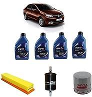 Troca De Oleo Filtros Renault Clio/logan/sandero 1.0 16v Elf Evolution 10w40 1lt