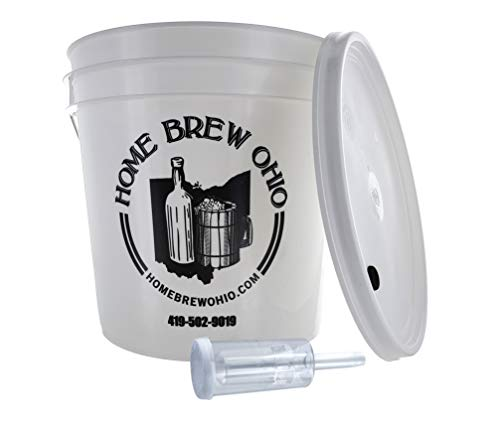 Home Brew Ohio FBA_Does Not Apply Complete 2 Gallon Fermenting Bucket, White (Color: White)