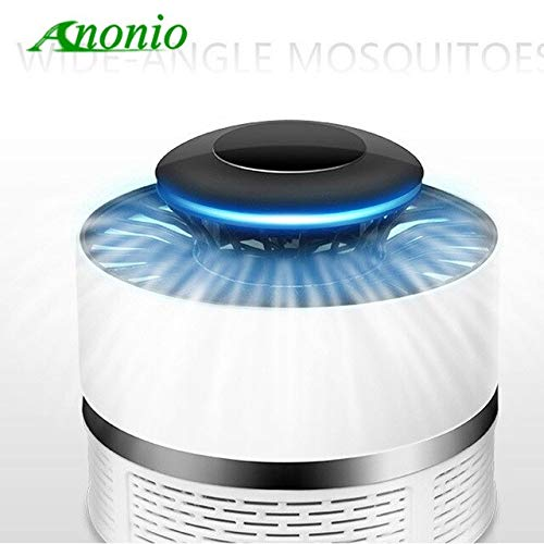 Small Size Safe USB Photocatalyst Electric LED Mosquito Insect Killer Repeller Mosquito Killer Lamp LED Bug Repellent Zapper 0B   White