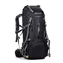 Hiking Backpack 65L+5L Lightweight Hiking Traveling Knapsack Camping Backpack Trekking Rucksacks with Rain Cover.