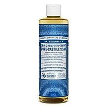 Dr. Bronner's Magic Soap Organic Peppermint Oil Pure Castile Soap Liquid, 472-Milliliter