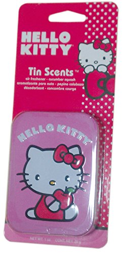 Hello Kitty Tin Scents Air Freshener, Cucumber Squash Fast Shipping
