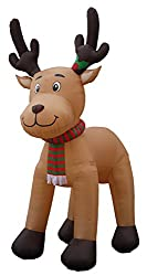 JUMBO 15 Foot Tall Christmas Inflatable Reindeer Outdoor...