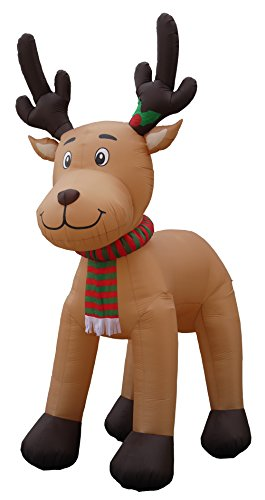 Rudolph And Clarice Costumes (JUMBO 15 Foot Tall Christmas Inflatable Reindeer Outdoor Yard Decoration)