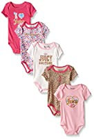 Juicy Couture Baby Girls' 5 Pack Bodysuit