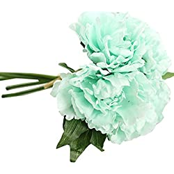 YLCOYO Flowers, Artificial Fake Flowers Leaf Magnolia Floral Wedding Bouquet Party Home Decor (D)