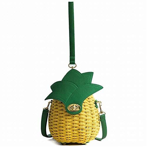 Small Yellow Fresh di Mang One The Sen Women Personality Donna Fruit Ananas Borsa Crossbody Single Documenti small Bag paglia Lock q1XwTBqC
