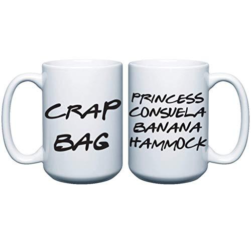 (VictoryStore Mugs: Princess Consuela Banana Hammock & Crap Bag Couples Funny Coffee Mug Set 15 ounce TV Show Quote - His and Hers)