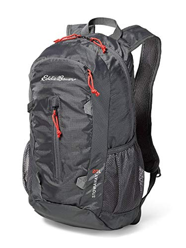 Eddie Bauer Unisex-Adult Stowaway Packable 20L Daypack, Dk Smoke Regular ONE SIZ