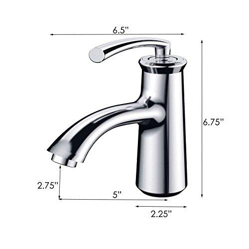 ELIMAX'S Elimax Luxury Short Chrome Single-handle Bathroom Lavatory Faucet by ELIMAX'S (Image #1)