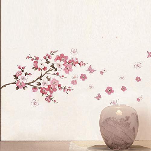 ELGDX Etiqueta de la Pared Flor de Cerezo Rama de árbol Sala de ...