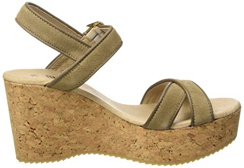 SHOOT Shoot Shoes Sh-160035 Damen Sommer Plateau Sandale Wedges - Sandalias Mujer Elfenbein (Taupe)