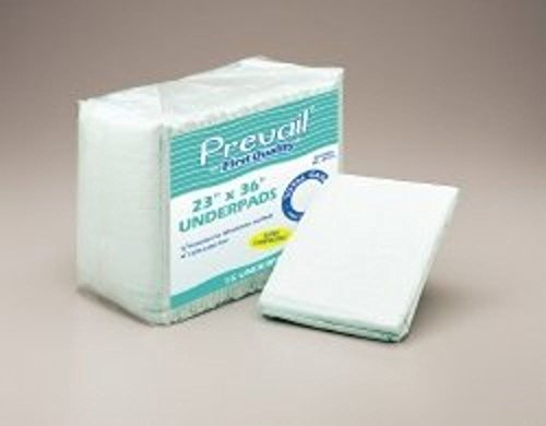 Underpad Prevail 23 X 36 Inch Disposable Fluff Moderate Absorbency, UP-150 - Pack of 15