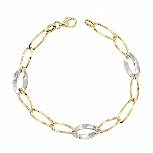 Bracelet 18k 19.5cm bicolor d'or. [AA1686]