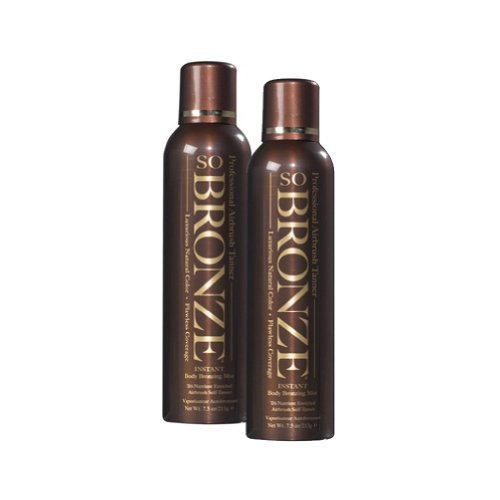 SO BRONZE Instant Body Bronzing Mist 7.5 oz. Set of 2