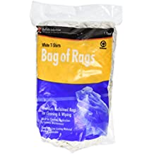 Buffalo Industries (10521) White Recycled T-Shirt Cloth Rags - 1 lb. bag