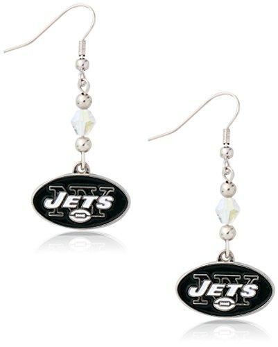 Jet Dangle (NFL New York Jets Crystal Dangle Earrings)