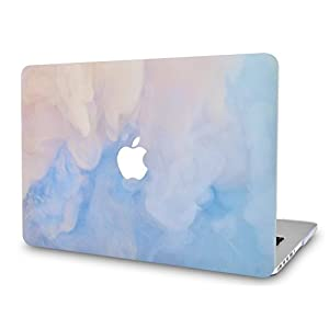 """LuvCase MacBook Pro 13 Case 2017 & 2016 Plastic Hard Shell Cover for MacBook Pro 13.3"""" A1706 / A1708 with/without Touch Bar (Blue Mist)"""