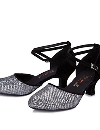ShangYi Nicht Anpassbare - Keilabsatz - Glitter - Latin/Standard-Tanz Schuhe , - Damen , Schuhe schwarz-us7.5 / eu38 / uk5.5 / cn38 , schwarz-us7.5 / eu38 / uk5.5 / cn38 - 6f1042