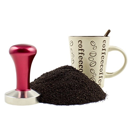 Zoie + Chloe Stainless Steel Espresso Coffee Tamper - 58mm Flat Base